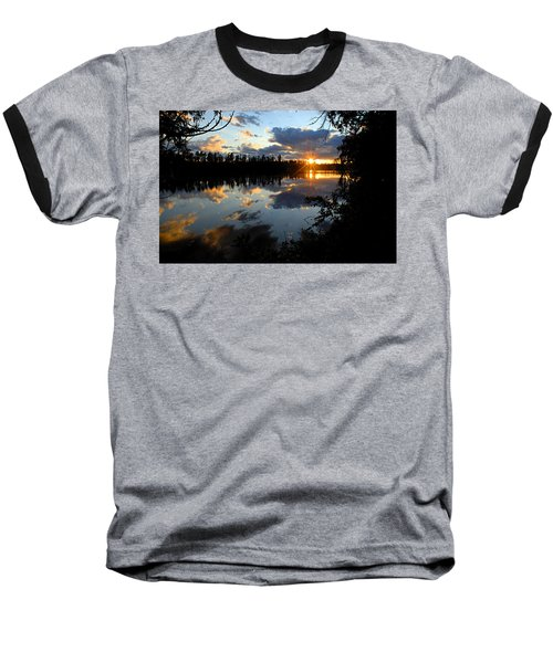 Sunset On Polly Lake Baseball T-Shirt