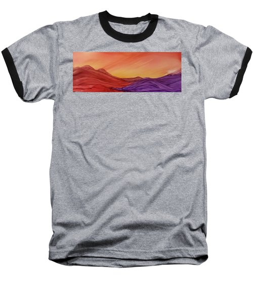 Sunset On Red And Purple Hills Baseball T-Shirt