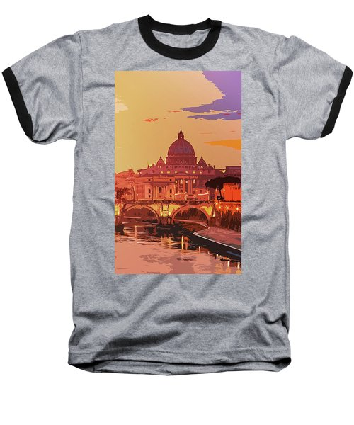 Sunset On Rome The Eternal City Baseball T-Shirt