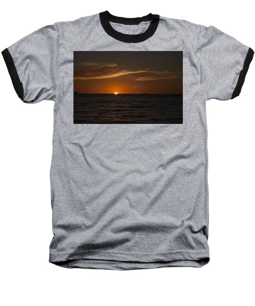Sunset On Sea Of Cortez Baseball T-Shirt
