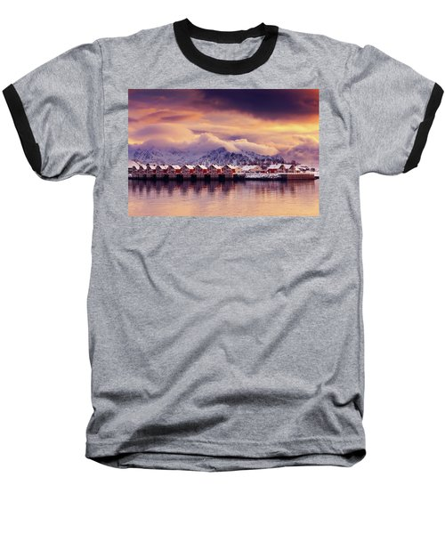 Sunset On Svolvaer Baseball T-Shirt