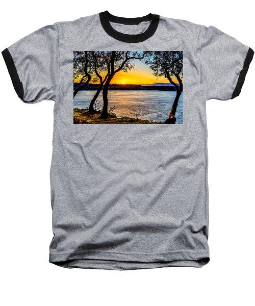Sunset On Tacoma Narrows Baseball T-Shirt