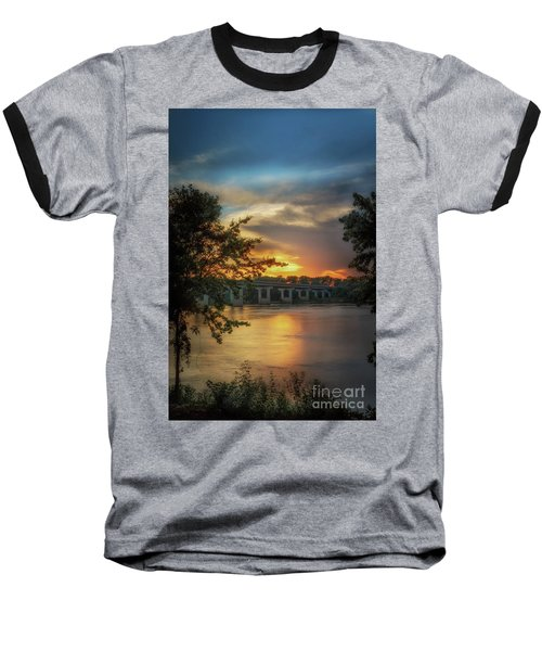 Sunset On The Arkansas Baseball T-Shirt