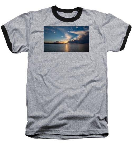 Sunset On The Baltic Sea Baseball T-Shirt