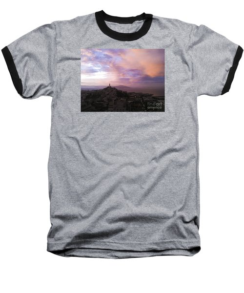 Sunset On The Bay Baseball T-Shirt