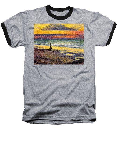 Sunset On The Beach 1891 Baseball T-Shirt