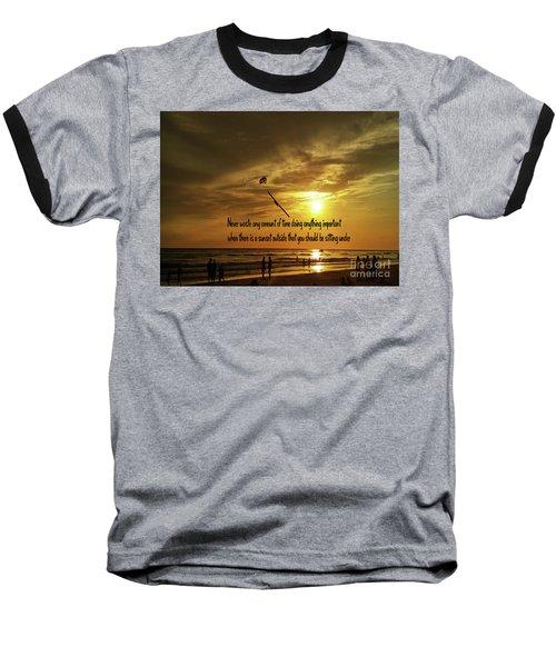 Baseball T-Shirt featuring the photograph Sunset On The Beach by Gary Wonning