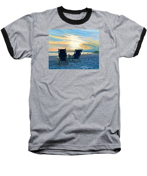 Sunset On The Beach Baseball T-Shirt