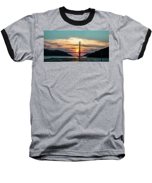 Sunset On The Bridge Baseball T-Shirt