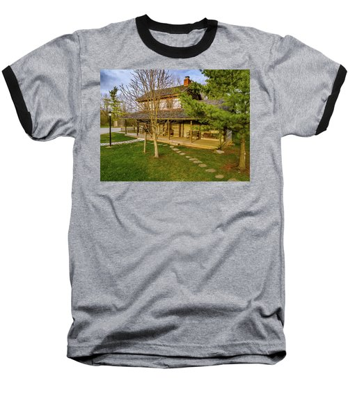 Sunset On The Cabin Baseball T-Shirt