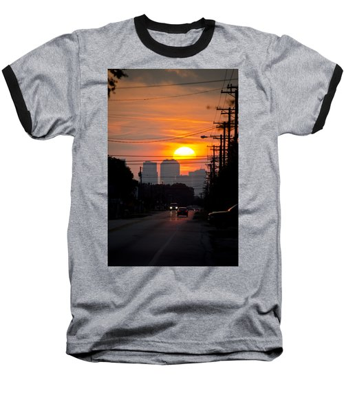 Sunset On The City Baseball T-Shirt