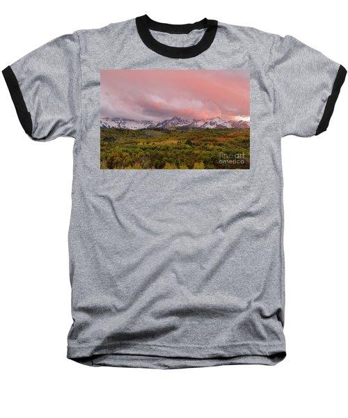 Sunset On The Dallas Divide Ridgway Colorado Baseball T-Shirt