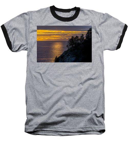 Sunset On The Edge Baseball T-Shirt