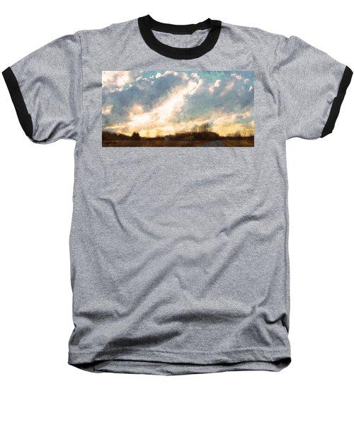 Sunset On The Farm Baseball T-Shirt