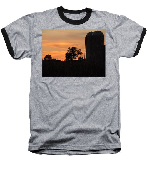Baseball T-Shirt featuring the photograph Sunset On The Farm by Teresa Schomig