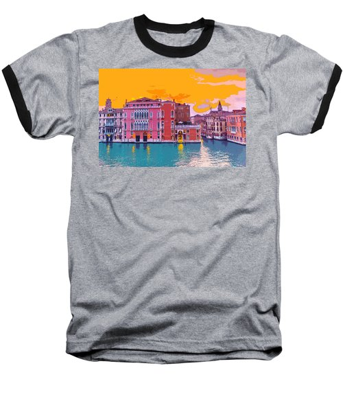 Sunset On The Grand Canal Venice Baseball T-Shirt