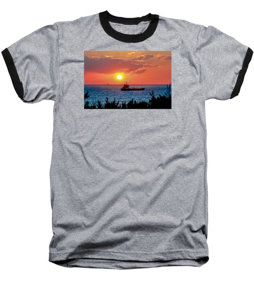 Sunset On The Horizon Baseball T-Shirt