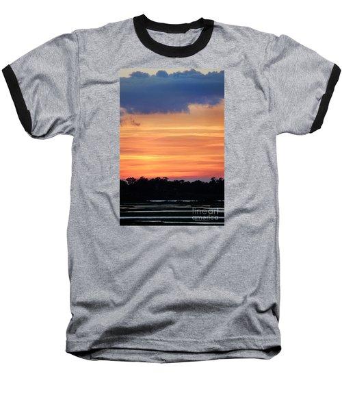 Sunset On The Marsh Baseball T-Shirt