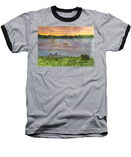 Sunset On The Merrimac River Baseball T-Shirt