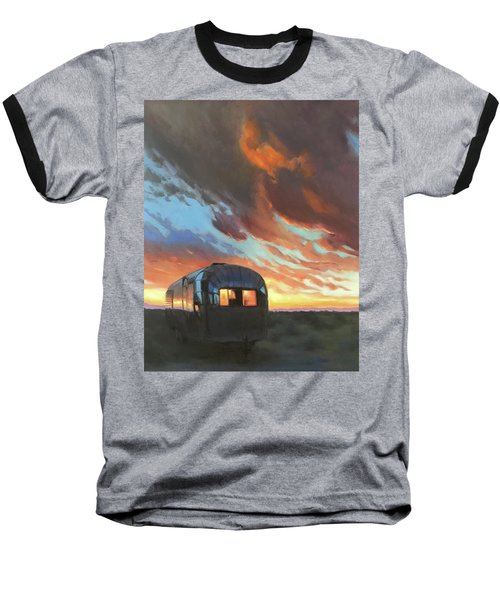 Sunset On The Mesa Baseball T-Shirt