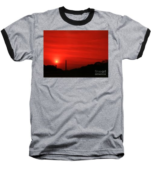 Sunset On The National Mall Washington Dc Baseball T-Shirt