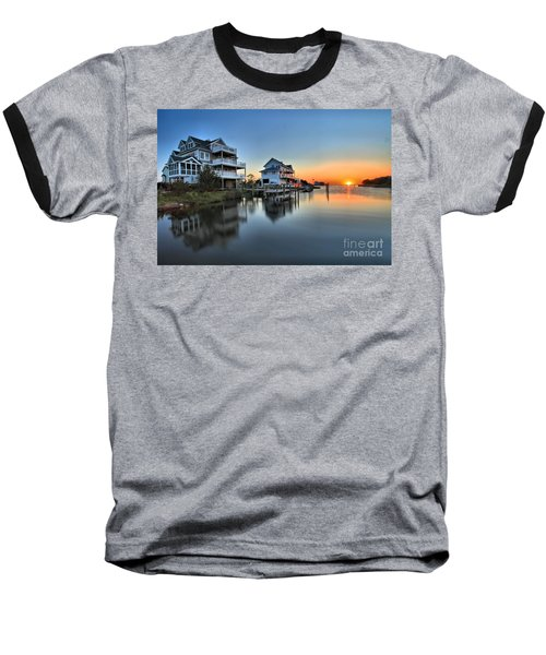 Sunset On The Obx Sound Baseball T-Shirt