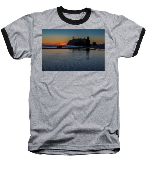 Sunset On The Oregon Coast Baseball T-Shirt