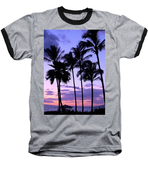 Baseball T-Shirt featuring the photograph Sunset On The Palms by Debbie Karnes