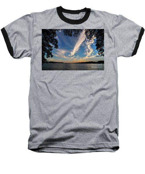 Sunset On The Pamlico Baseball T-Shirt