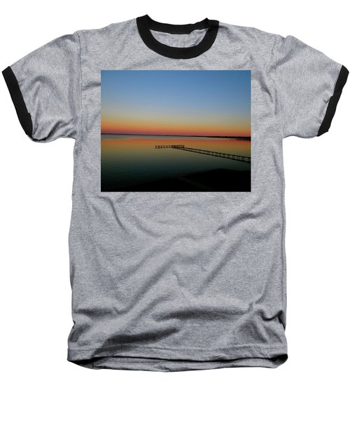 Sunset On The Pier Baseball T-Shirt