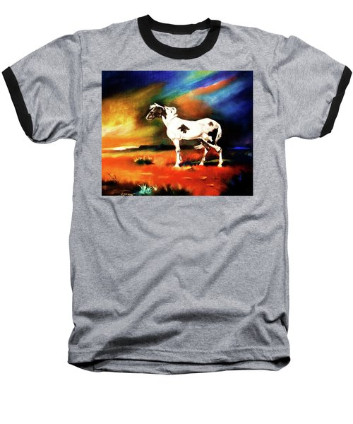 Sunset On The Plains Baseball T-Shirt