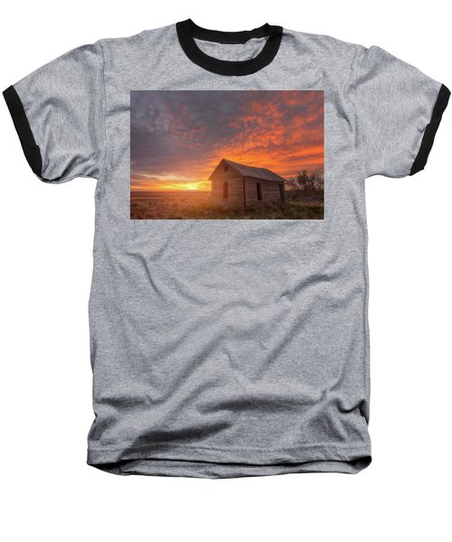 Baseball T-Shirt featuring the photograph Sunset On The Prairie  by Darren White