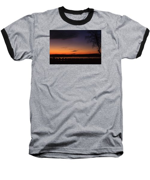 Sunset On The River Baseball T-Shirt
