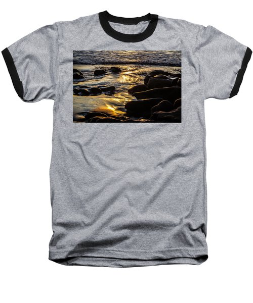 Sunset On The Rocks Baseball T-Shirt