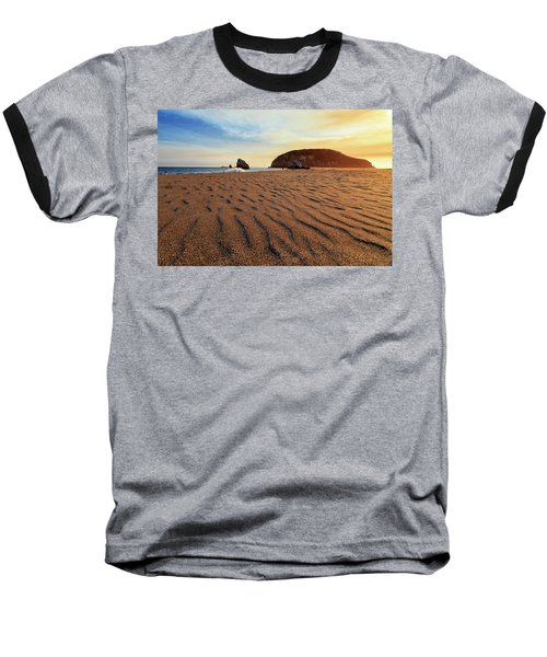 Baseball T-Shirt featuring the photograph Sunset On The Sands Of Brookings by James Eddy