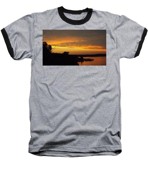 Sunset On The Shore  Baseball T-Shirt by Don Koester