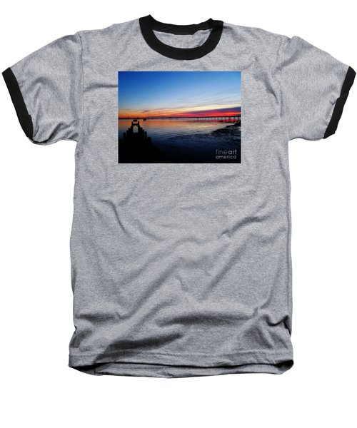 Sunset On The Shore Of Southend Baseball T-Shirt
