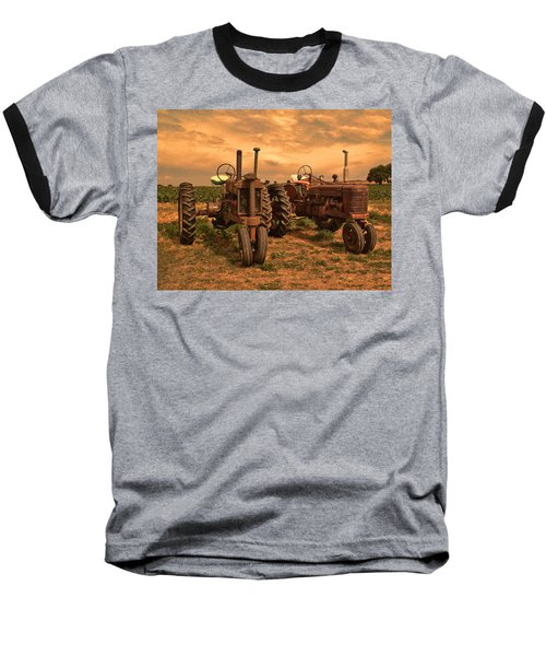 Sunset On The Tractors Baseball T-Shirt