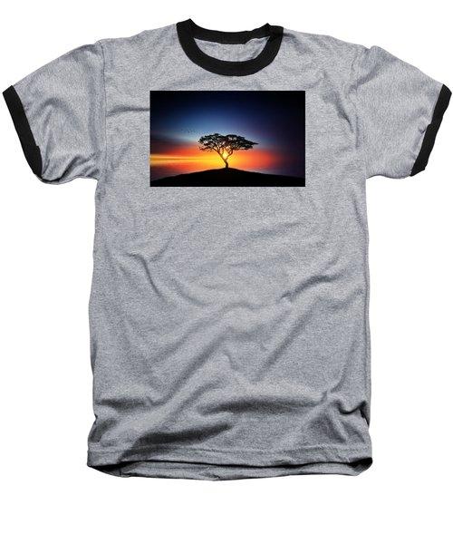 Sunset On The Tree Baseball T-Shirt