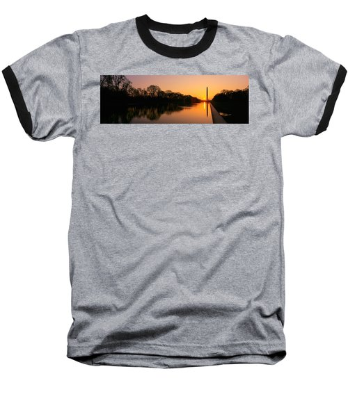 Sunset On The Washington Monument & Baseball T-Shirt by Panoramic Images