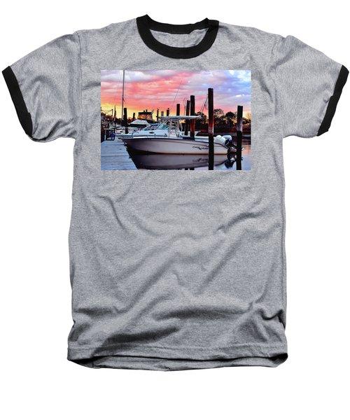 Sunset On The Water Baseball T-Shirt