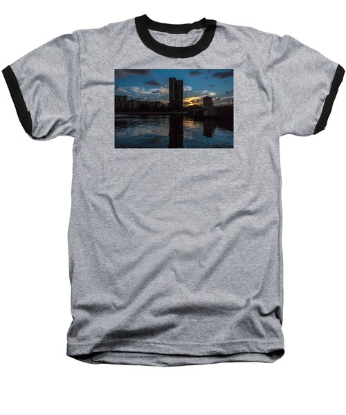 Sunset On The Water Baseball T-Shirt