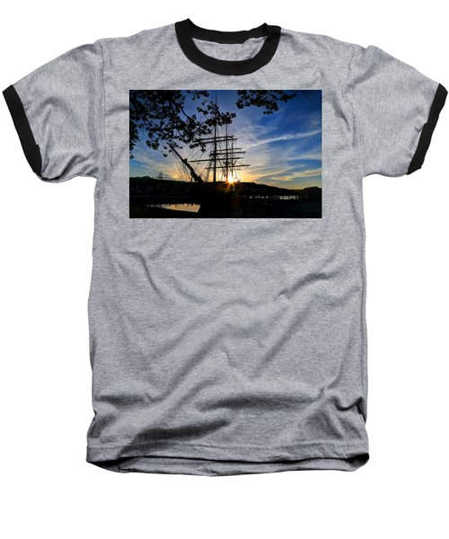 Sunset On The Whalers Baseball T-Shirt