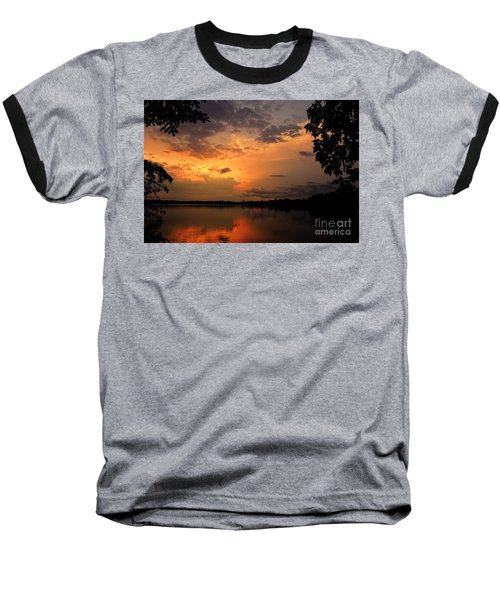 Baseball T-Shirt featuring the photograph Sunset On Thomas Lake by Larry Ricker