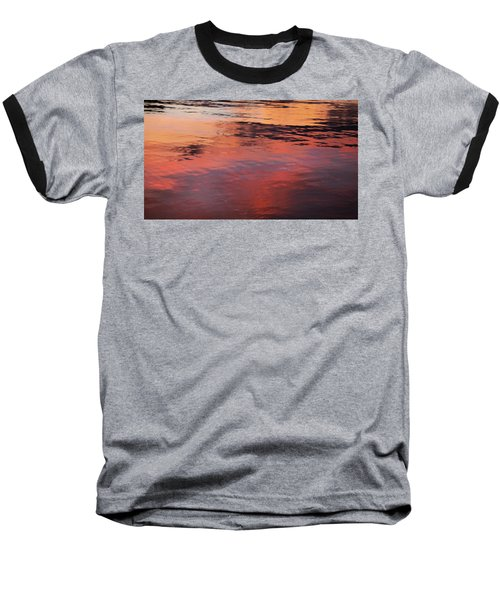 Baseball T-Shirt featuring the photograph Sunset On Water by Theresa Tahara