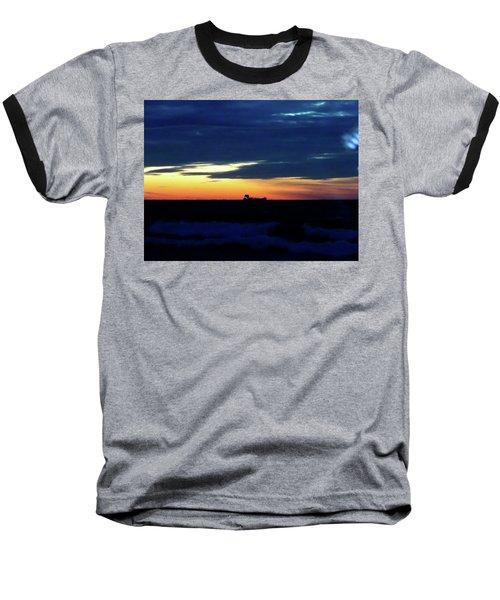 Sunset On Winter Solstice Eve Baseball T-Shirt