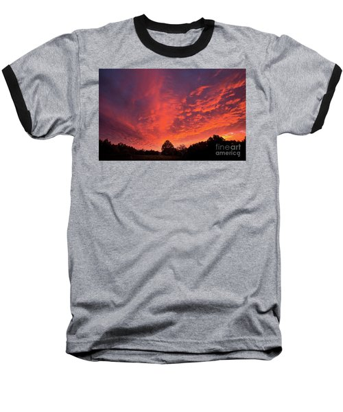 Sunset Over A Maine Farm Baseball T-Shirt