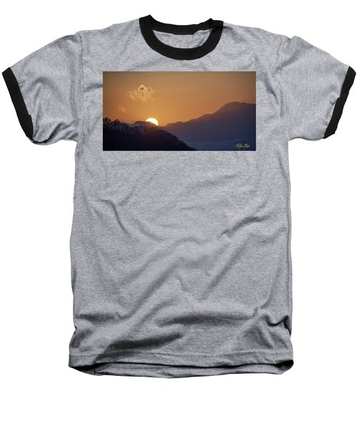 Baseball T-Shirt featuring the photograph Sunset Over Asia  by Rikk Flohr
