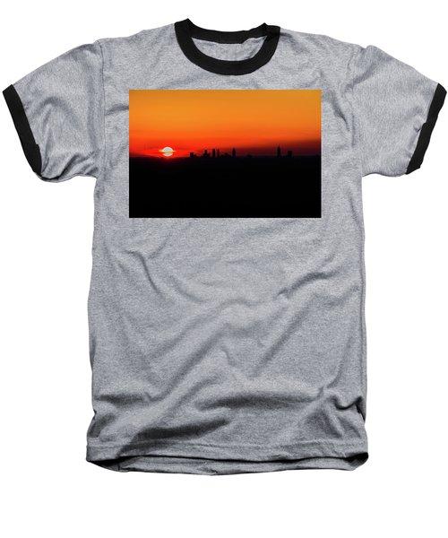 Sunset Over Atlanta Baseball T-Shirt