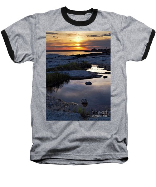 Sunset Over Boothbay Harbor Maine  -23095-23099 Baseball T-Shirt